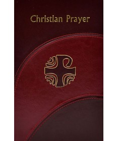 Christain Prayer - Burgundy Imitation Leather