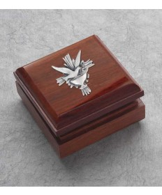 Hardwood Box with Holy Spirit Decor