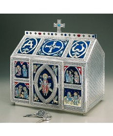 Chest Style Tabernacle with Celtic Ornamentation