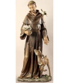 """St Francis 36.5"""" Statue from Renaissance Collection"""