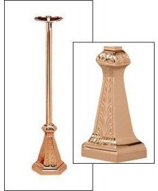 """Excelsis Processional Candlestick 44""""H, 9"""" Base"""