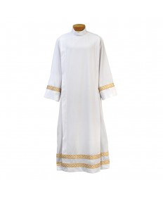 Beau Veste Server Front Wrap Alb with Gold Embroidery