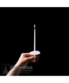"""9"""" Congregational Stearine Candles with Drip Protectors"""
