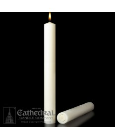 "1-1/2"" x 26"" Altar 51% Beeswax Plain End Candles"