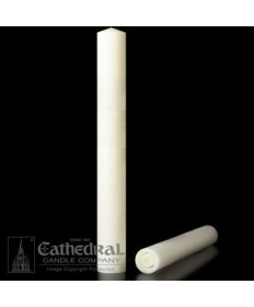 "2"" x 24"" Altar 51% Beeswax Plain End Candles"