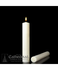 """2 1/4"""" x 9"""" Altar 51% Beeswax All Purpose End Candles"""