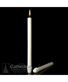 "7/8"" x 16"" Altar 51% Beeswax Candles Self-Fitting End (Short 3)"