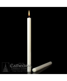 "7/8"" x 12"" Altar 51% Beeswax Candles Plain End (Short 4)"