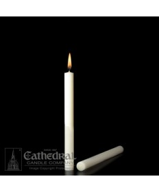"7/8"" x 8"" Altar 51% Beeswax Candles Plain End (Short 6)"