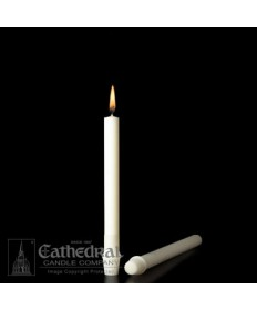 "7/8"" x 8"" Altar 51% Beeswax Candles Self-Fitting End (Short 6)"