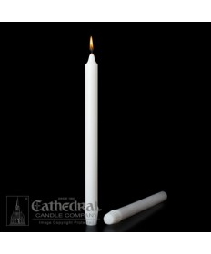 "Small Dia 7/8"" x 16"" Non-Beeswax Altar Candles Self-Fitting End (Short 3)"