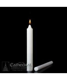 "Large Diameter 1-1/2"" x 9"" Non-Beeswax Altar Candles Plain End"