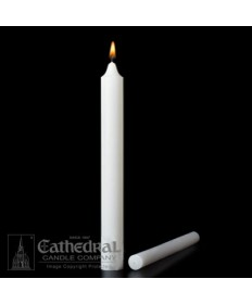 "Large Diameter 1-1/2"" x 16"" Non-Beeswax Altar Candles Plain End"