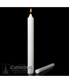 "Large Diameter 1-1/2"" x 24"" Non-Beeswax Altar Candles Plain End"