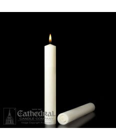 "1-3/4"" x 9"" Altar 51% Beeswax All Purpose End Candles"
