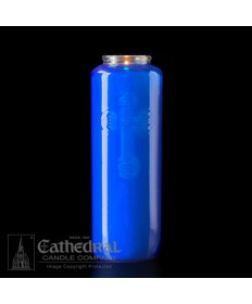 6 Day Gleamlight Dark Blue - Glass Offering Candles