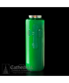 6 Day Gleamlight Green - Glass Offering Candles