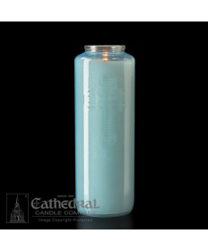6 Day Gleamlight Light Blue - Glass Offering Candles