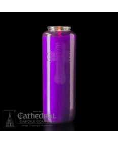 6 Day Gleamlight Purple - Glass Offering Candles