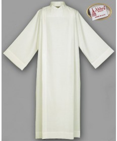 Abbey Front Wrap Ivory Alb 100% Polyester with Button Closure
