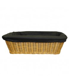 """Rectangular 4"""" deep Collection Basket with Liner"""