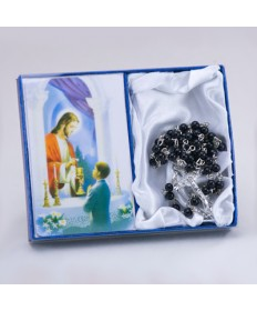 First Communion Rosary Set for Boys