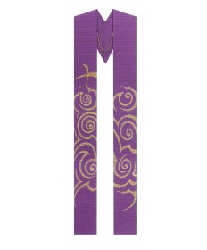Overlay Stole by Slabbinck in Cantate Fabric - Advent Cross