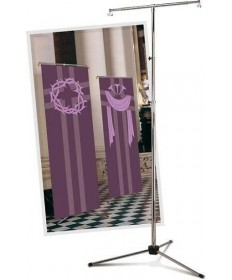 Banner Stand ideal for the Slabbinck RayTex indoor Banners