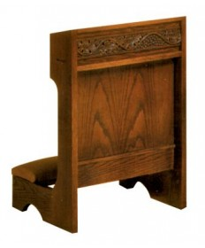 Prie Dieu with Shelf, Grapevine Design
