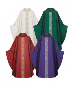 Chasuble by Slabbinck in Sentia Fabric with Woven Band
