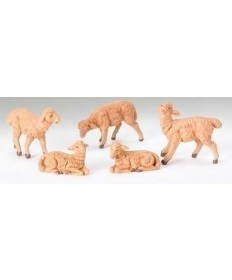 "Fontanini 5"" Brown Sheep 5 pc Set"