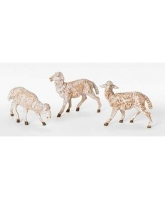 "Fontanini 7.5"" Set of 3 White Sheep"
