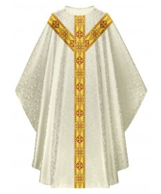 Chasuble by Slabbinck in Duomo Fabric with Gold Band