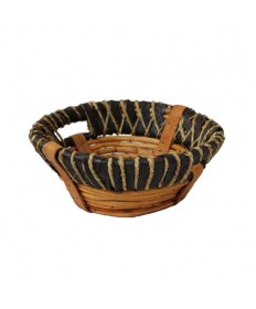 """Round 4"""" deep Rustic Collection Basket"""