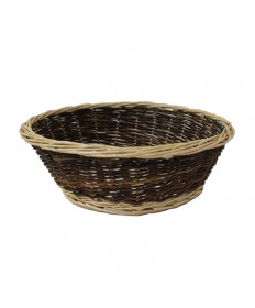 """Round 4.5"""" deep Two-Tone Collection Basket"""