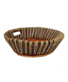 """Round 4"""" deep Two-Tone Collection Basket"""