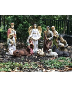 Fiberglass Resin 12 Piece Nativity Set 20""