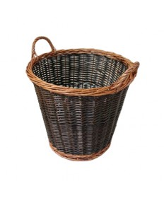 Round Overflow Two-Tone Collection Basket