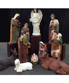 Fiberglass Resin 12 Piece Nativity Set 32""