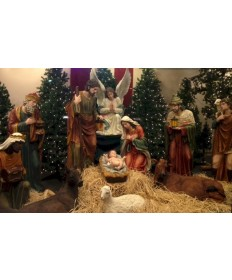Fiberglass Resin 12 Piece Nativity Set 59""