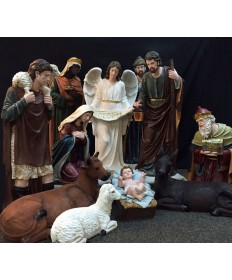 Fiberglass Resin 12 Piece Nativity Set 48""