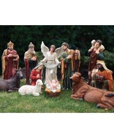 Fiberglass Resin 12 Piece Nativity Set 39""