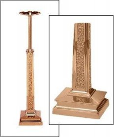 "Excelsis Processional Candlestick 44""H, 8.5"" Base"