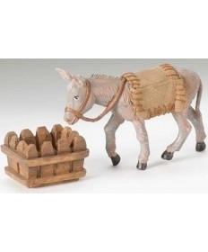 "Fontanini 5"" Mary's Donkey with Water Trough"