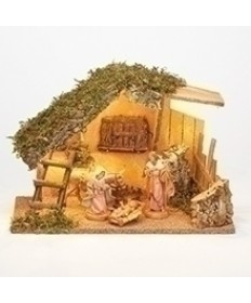"Fontanini 5"" Holy Family Nativity Set with Stable"