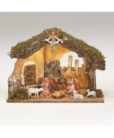 "Fontanini 5"" Nativity Set with Lighted Stable"