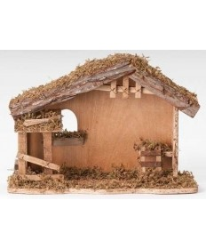 "Fontanini Wooden Nativity Stable for 5"" Figures - 10.5""H"