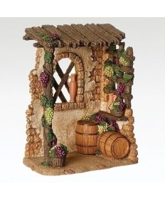 "Fontanini Wine Shop for 5"" Figures"