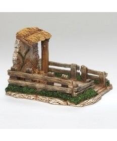 "Fontanini Sheep Shelter for 5"" Figures"