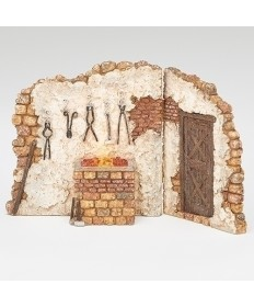 "Fontanini Blacksmith Shop for 5"" Figures"